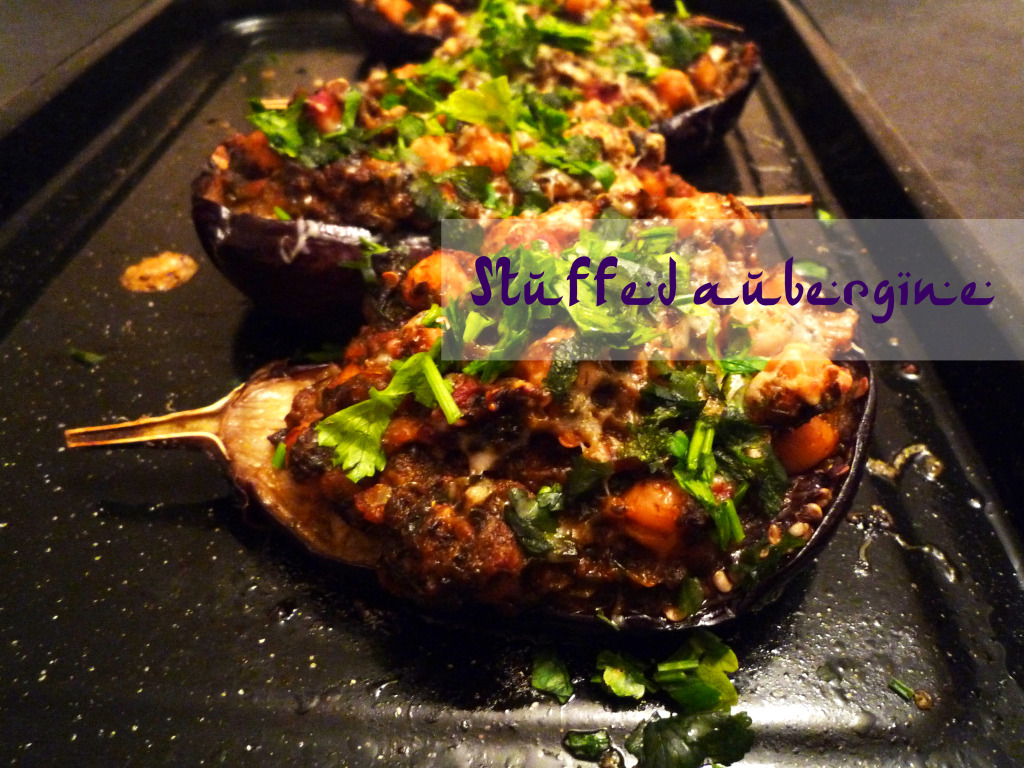 Stuffed-aubergine